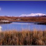 Восход луны над Ак-Алахой. Укок. Алтай